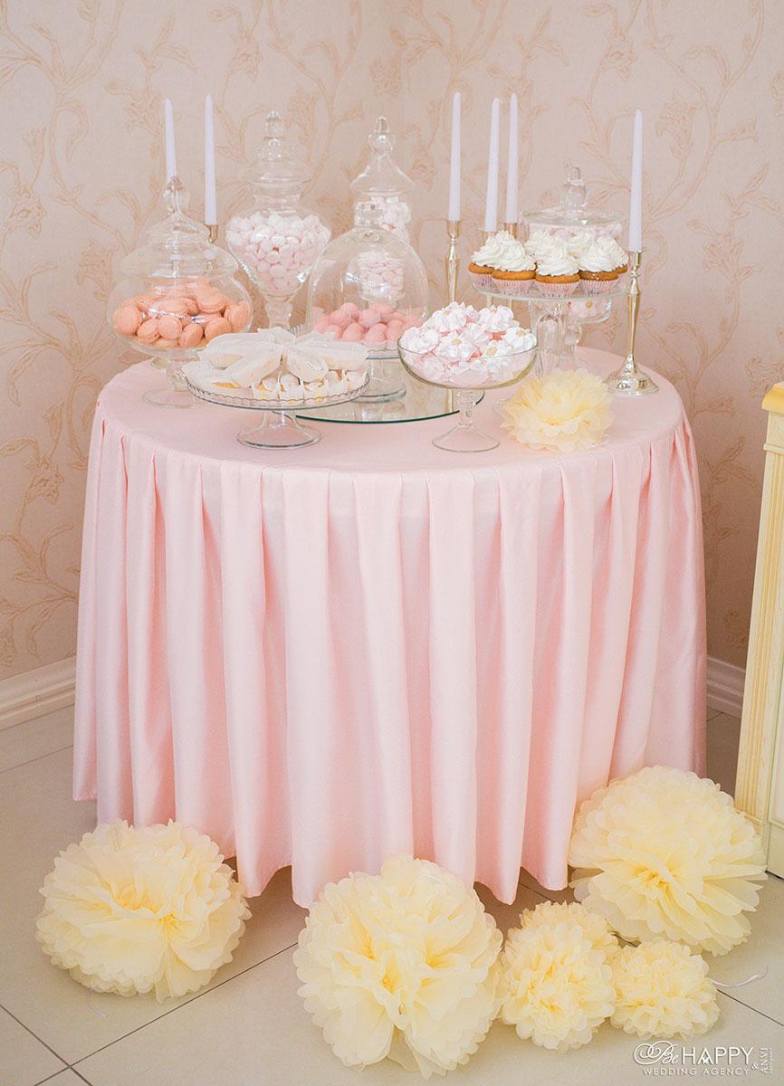 Сладости и декоративные элементы кенди бара свадьба Николаев