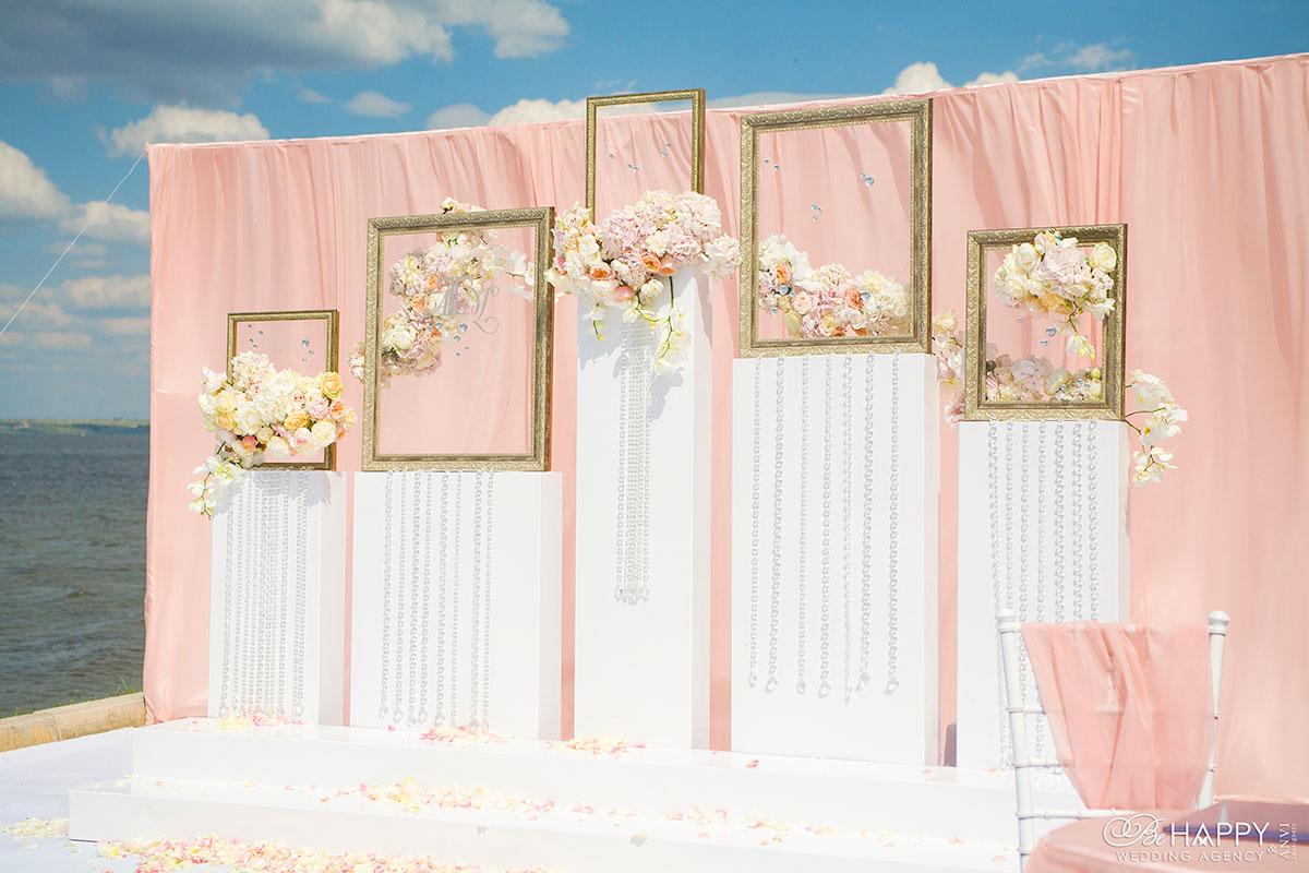 Декорирование зоны проведения выездной свадебной церемонии Би Хеппи Николаев