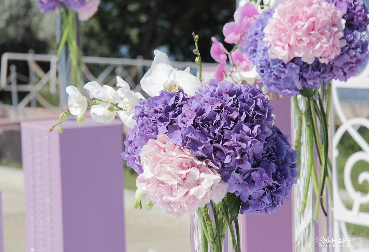 Цветочная композиция из орхидей и живых гортензий Николаев