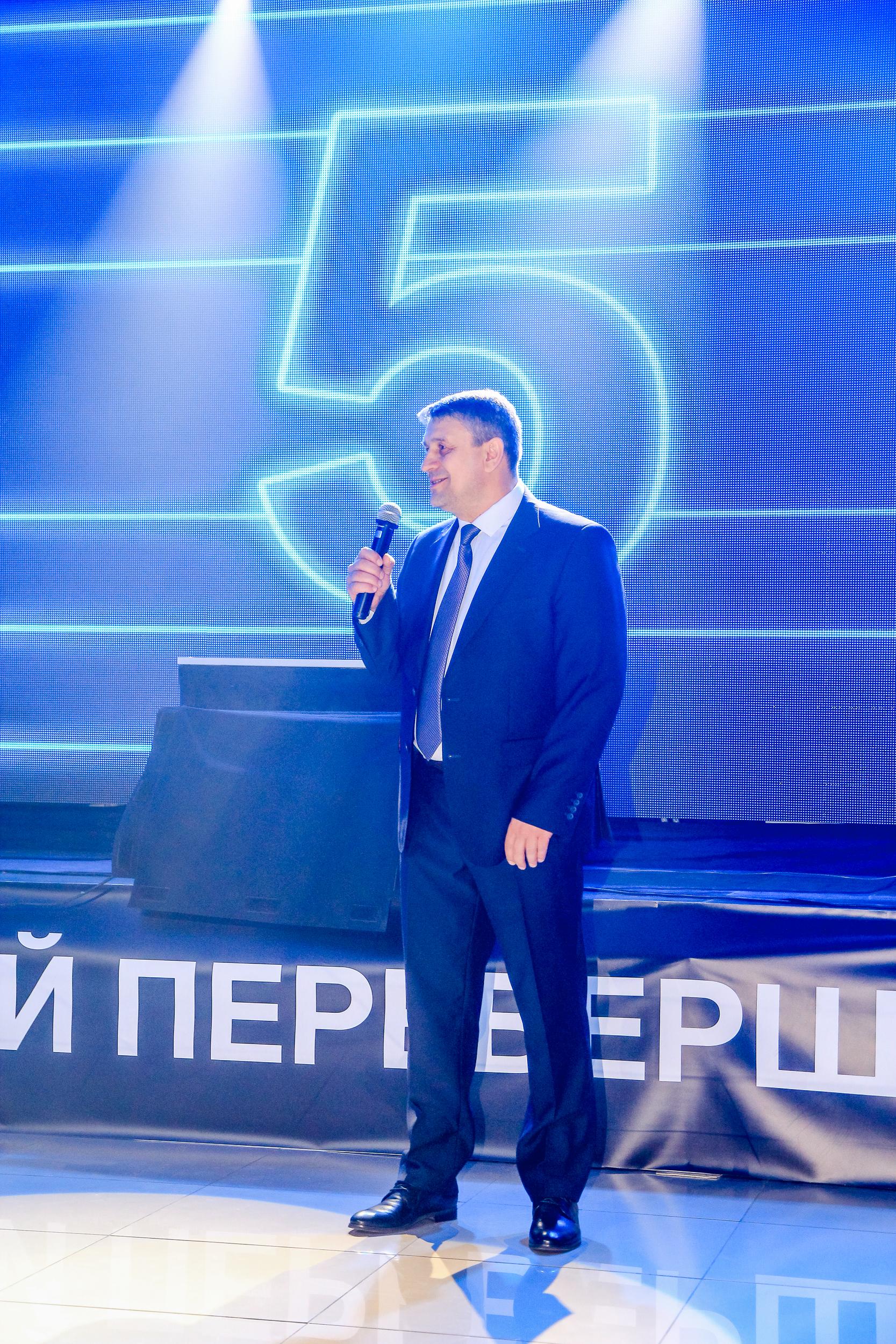 Выступление гостя на презентации BMW 5-Серии в Николаеве
