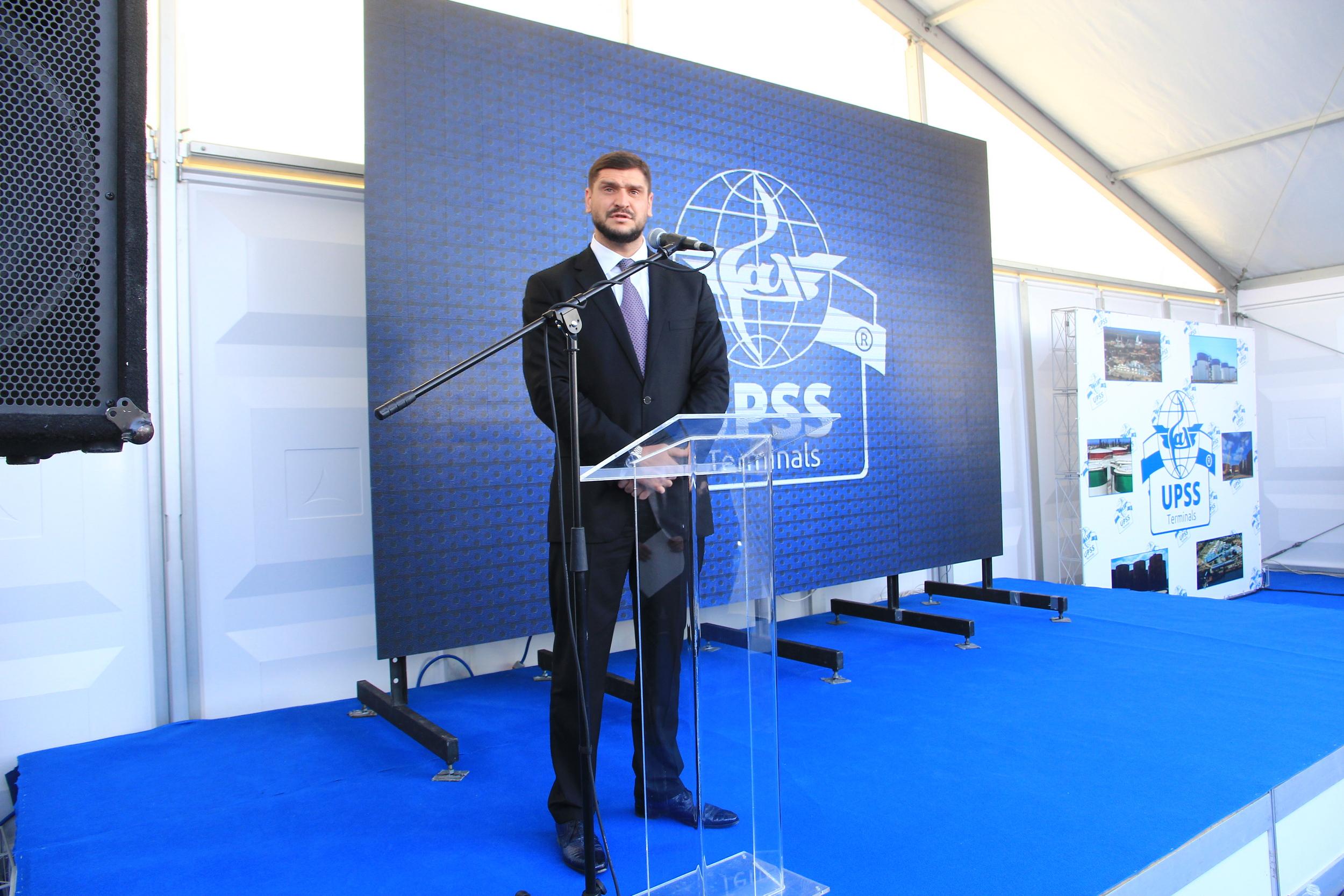 Выступление официального представителя компании UPSS на открытии терминалов Би Хеппи