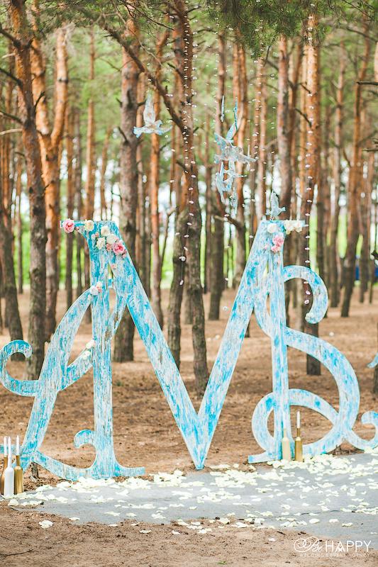 Фото декоративной арки в зоне проведения свадебной церемонии
