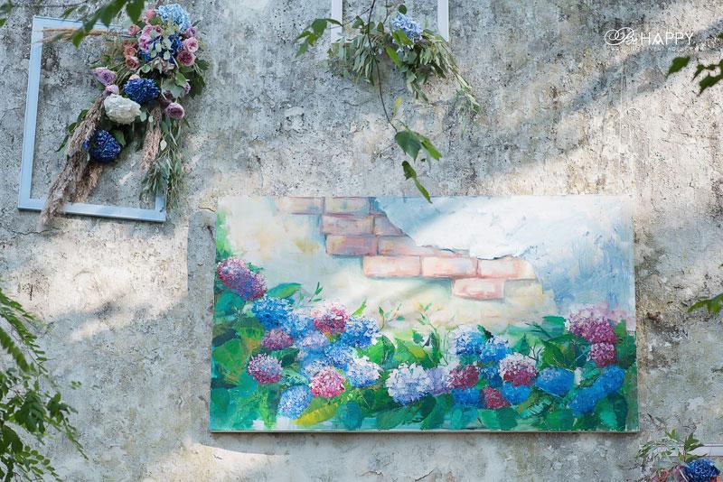 Оформление свадебной церемонии картинами и цветами Би Хеппи