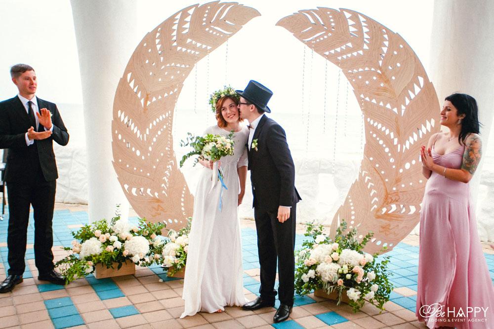 Выездная свадебная церемония Никита Худяков Би Хеппи Николаев