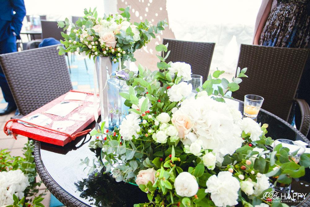 Свадебная флористика оформление столов для фуршета Николаев