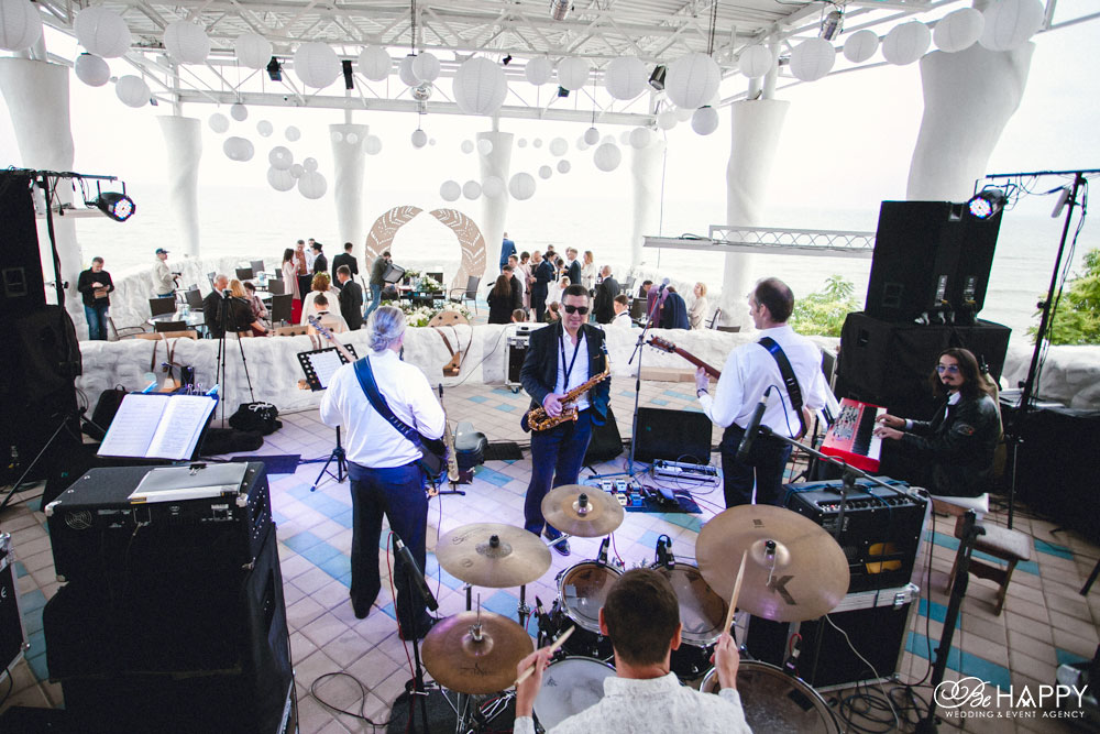 Выступление джазового бенда свадьба Балдино Николаев