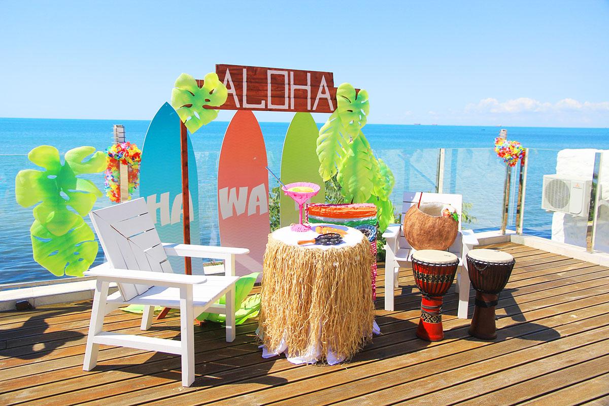 Гавайская вечеринка корпоратив декоративное оформление
