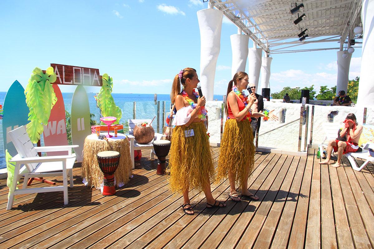 Корпоратив в гавайском стиле гости вечеринки