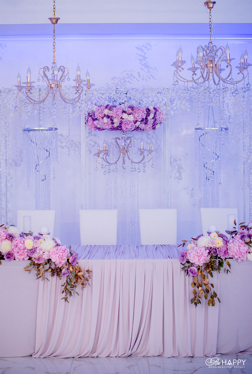 Декоративное оформление стола молодоженов свадебная флористика бихеппи