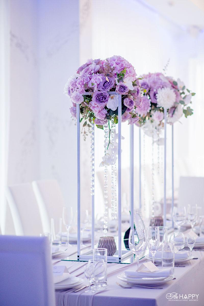 Свадебная флористика украшение банкетного стола цветами Би Хеппи Николаев