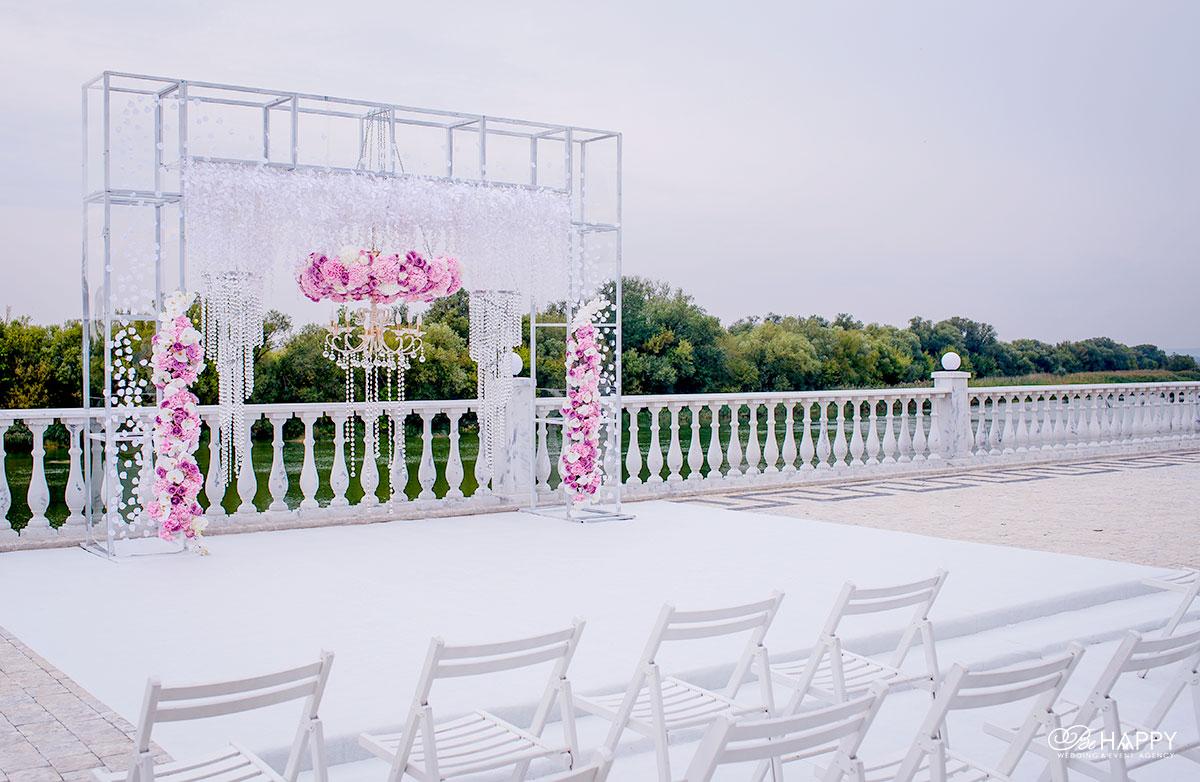 Выездная свадебная церемония свадебная арка Би Хеппи Николаев