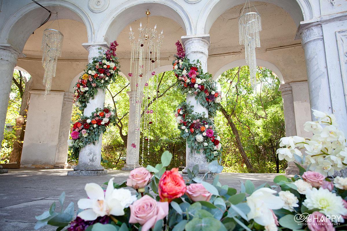 Свадебный декор и флористика выездная церемония Би Хеппи