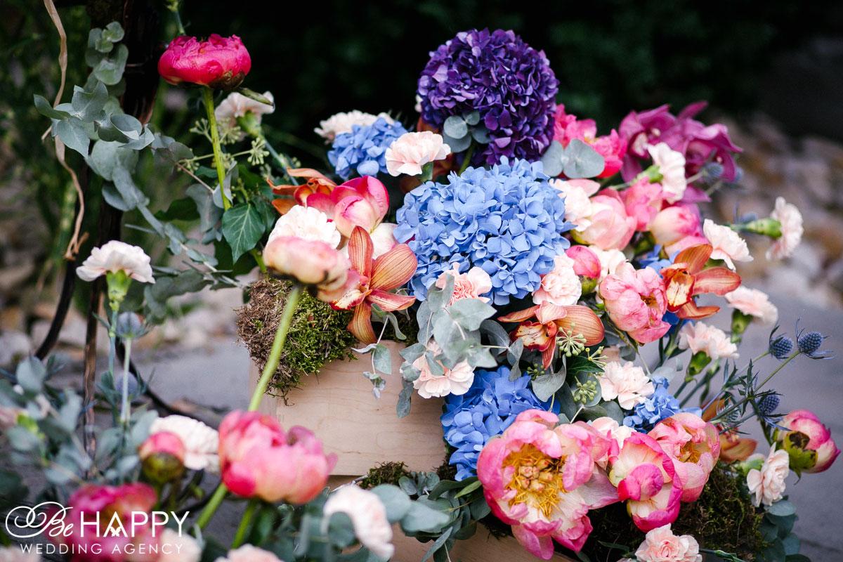 Декоративное оформление выездной свадьбы Бихеппи