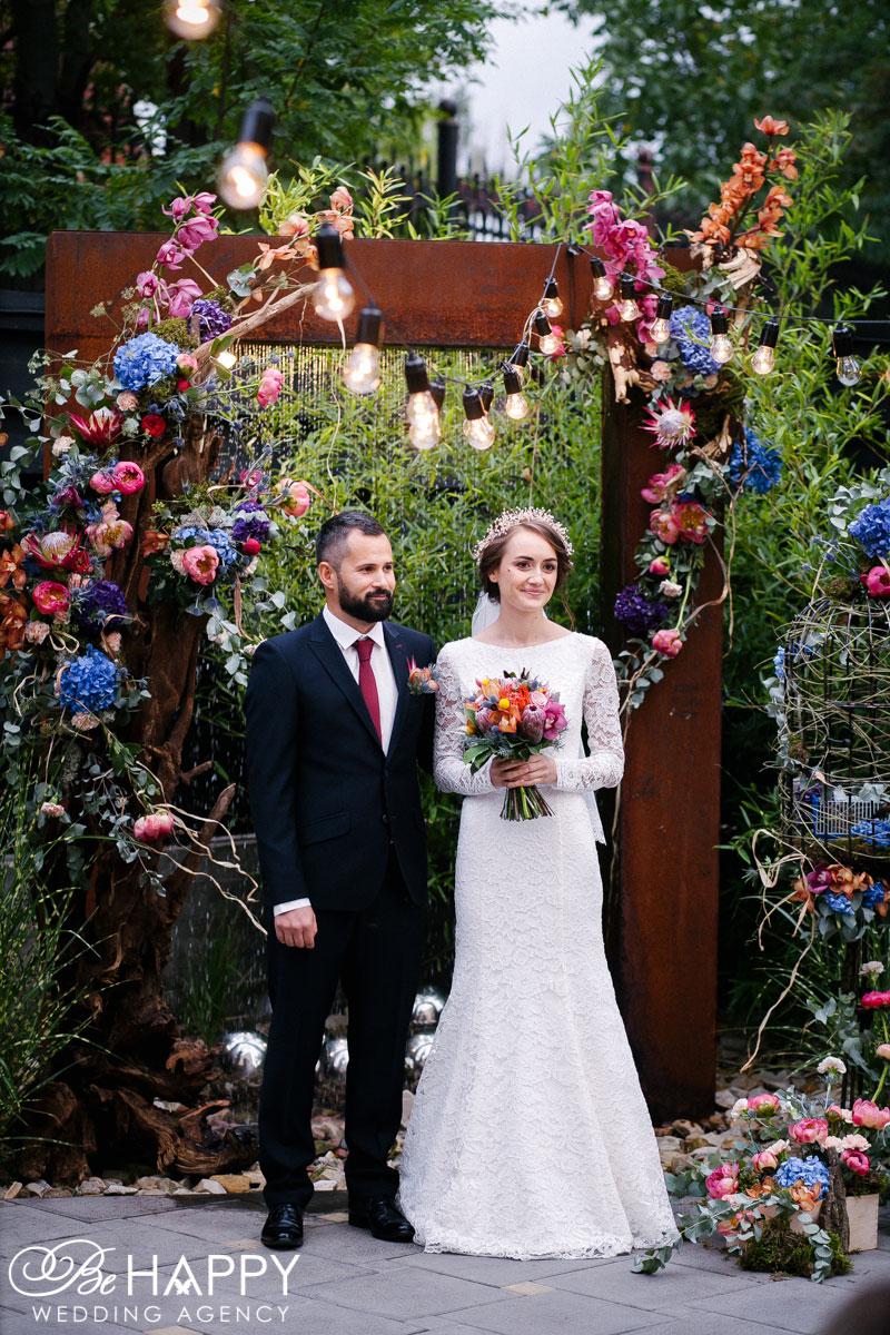 Фото молодоженов выездная свадебная церемония Бихеппи