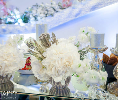 Декоративное оформление банкетного зала на свадьбе Бихеппи