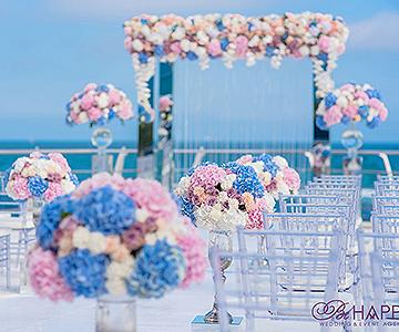 Свадебная флористика украшение мест для гостей свадьба Николаев