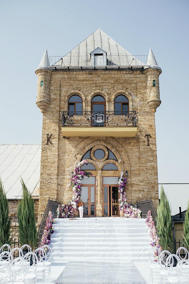 Выездная свадебная церемония в шато князя Трубецкого