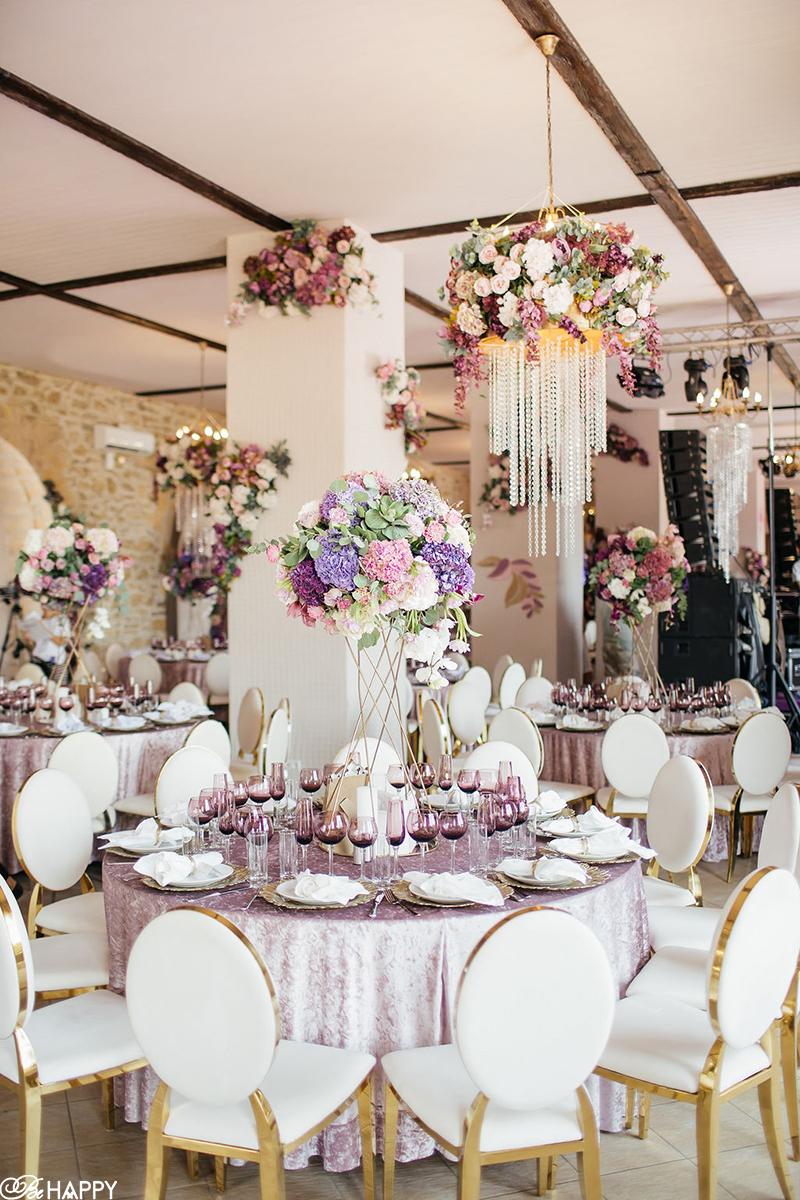 Декор и сервировка банкетного зала для свадьбы Be happy Wedding