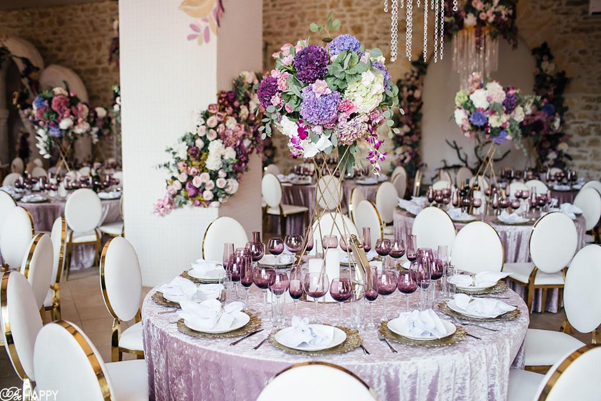 Сервировка столов для гостей свадьба Николаев