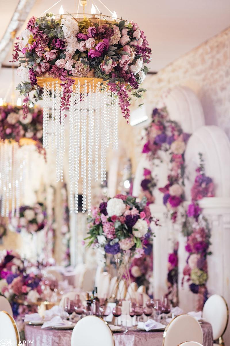 Украшение банкетного зала свадьба под ключ Би Хеппи