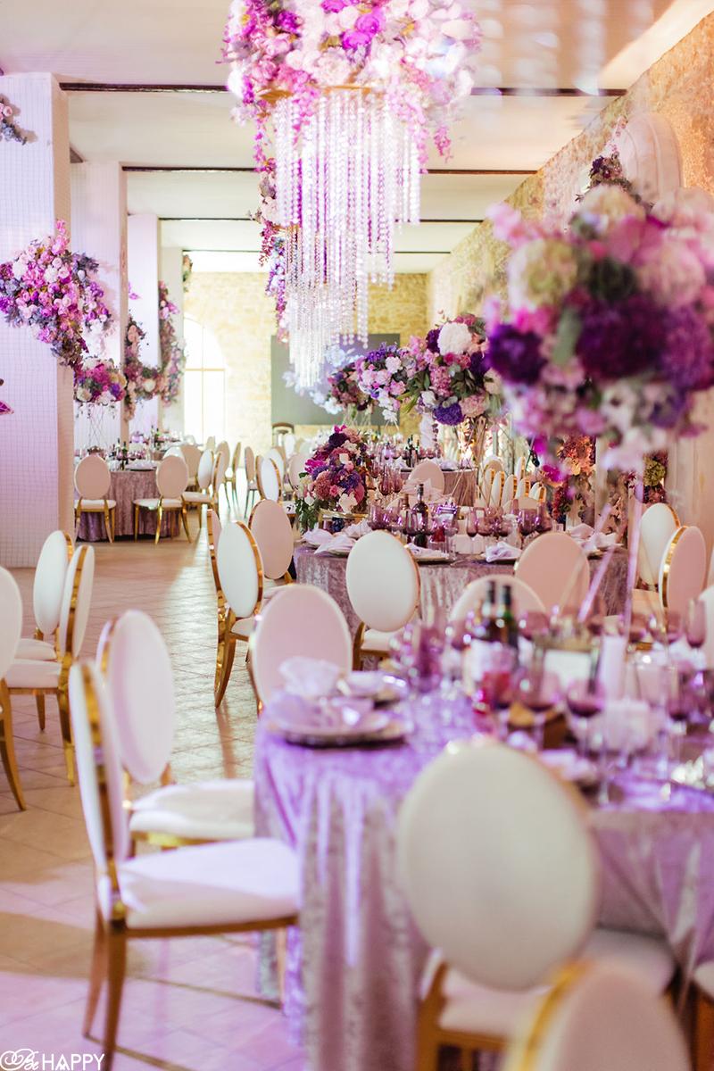 Фото банкетного зала свадебный декор Би Хеппи
