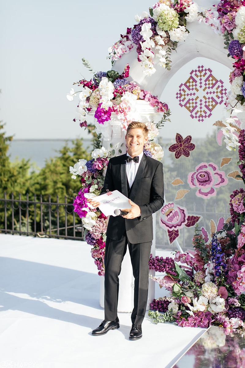 Ведущий свадебной церемонии Владимир Остапчук