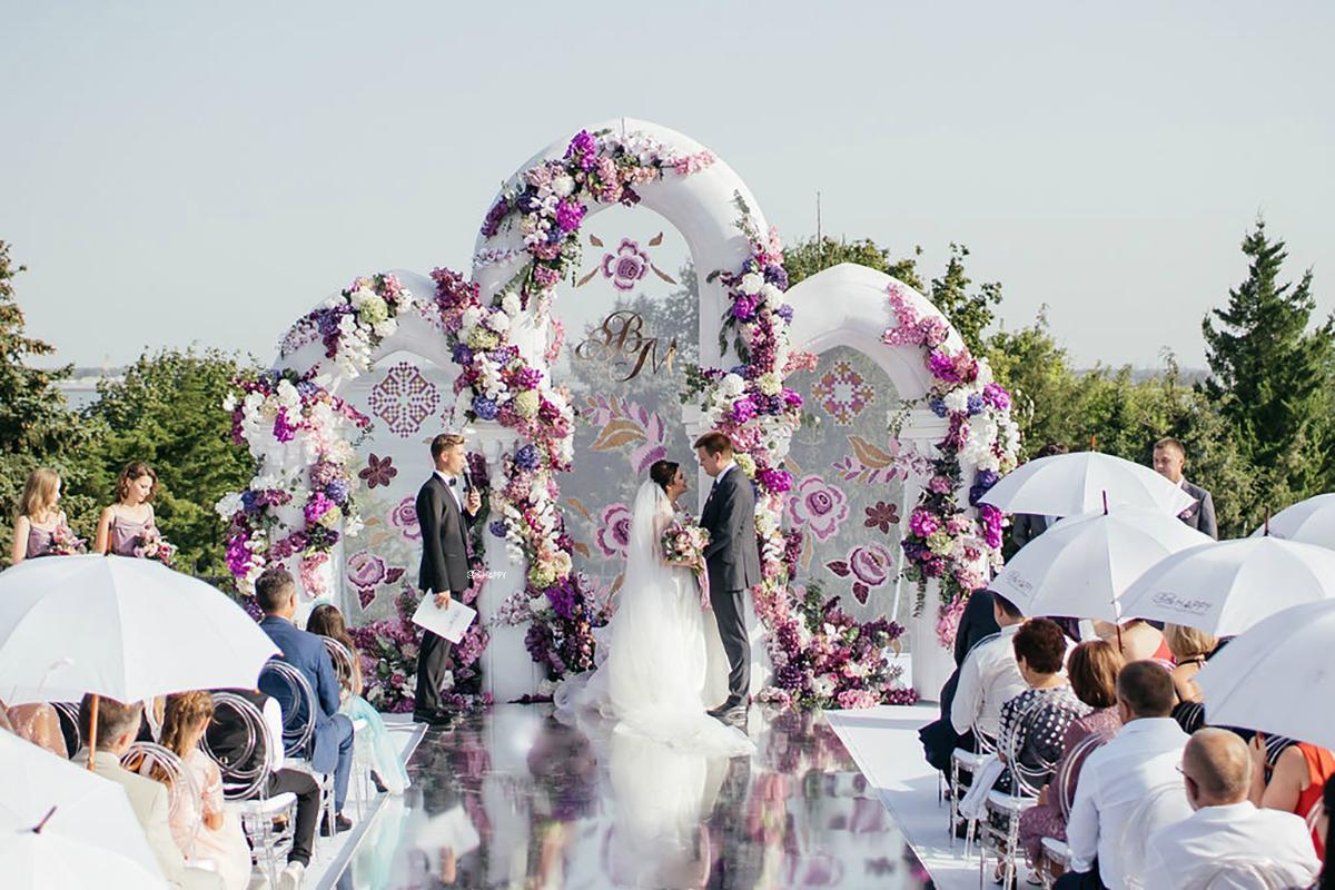 Роскошная свадебная церемония в шато князя Трубецкого