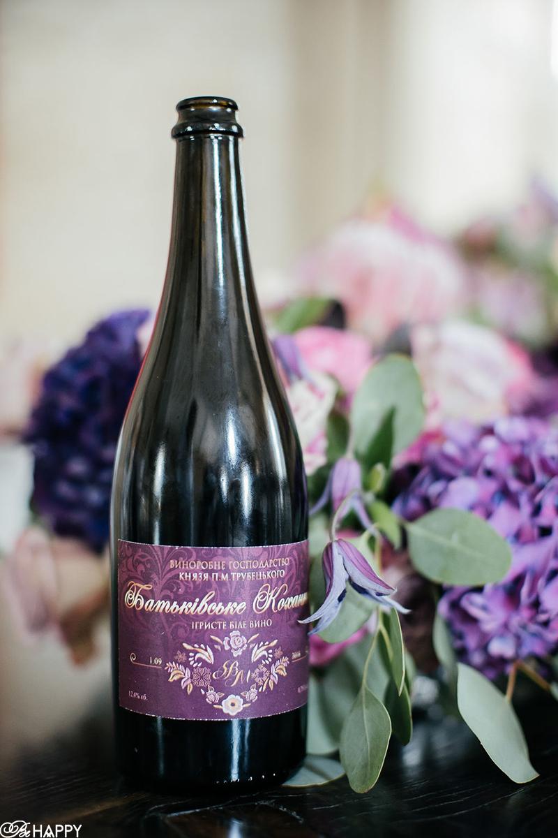 Бутылка шампанского с индивидуальным дизайном этикетки