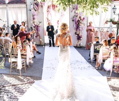 Фото невесты в свадебном платье со спины свадьба Николаев